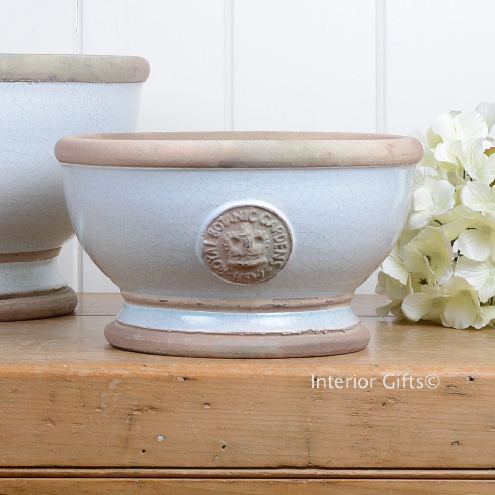 Kew Footed Bowl in Duck Egg Blue - Royal Botanic Gardens Plant Pot - Small