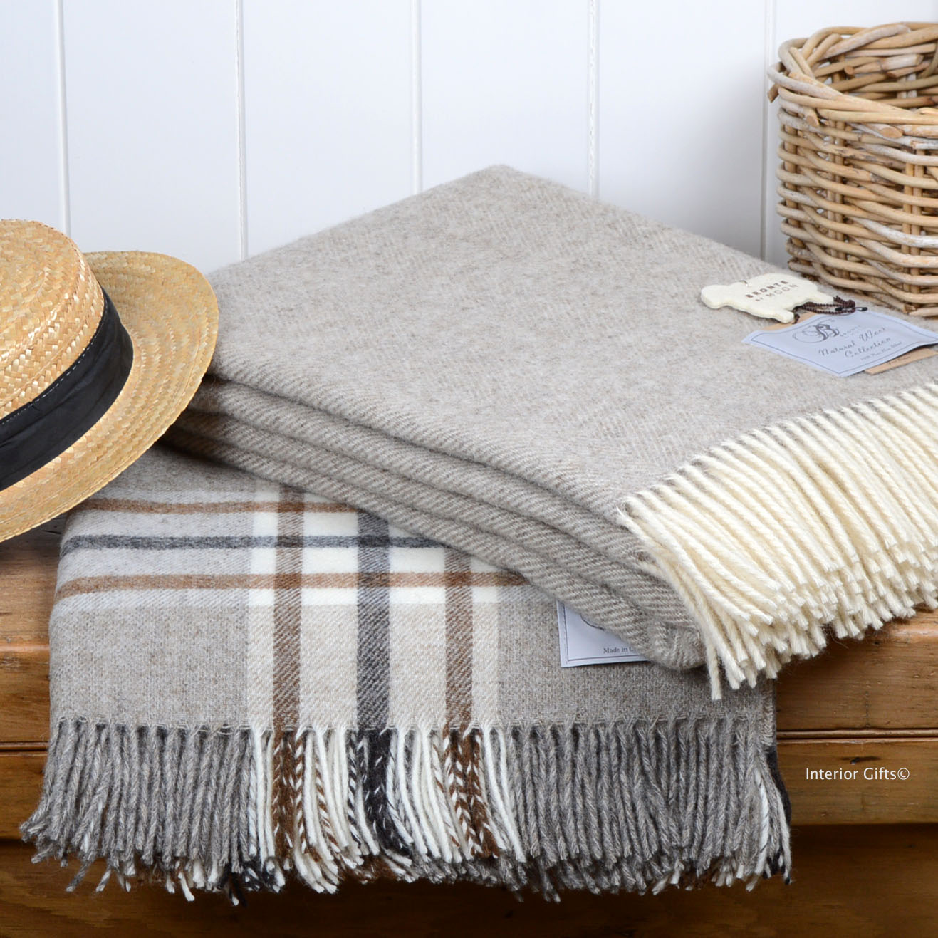Bronte Wool Throws in Natural