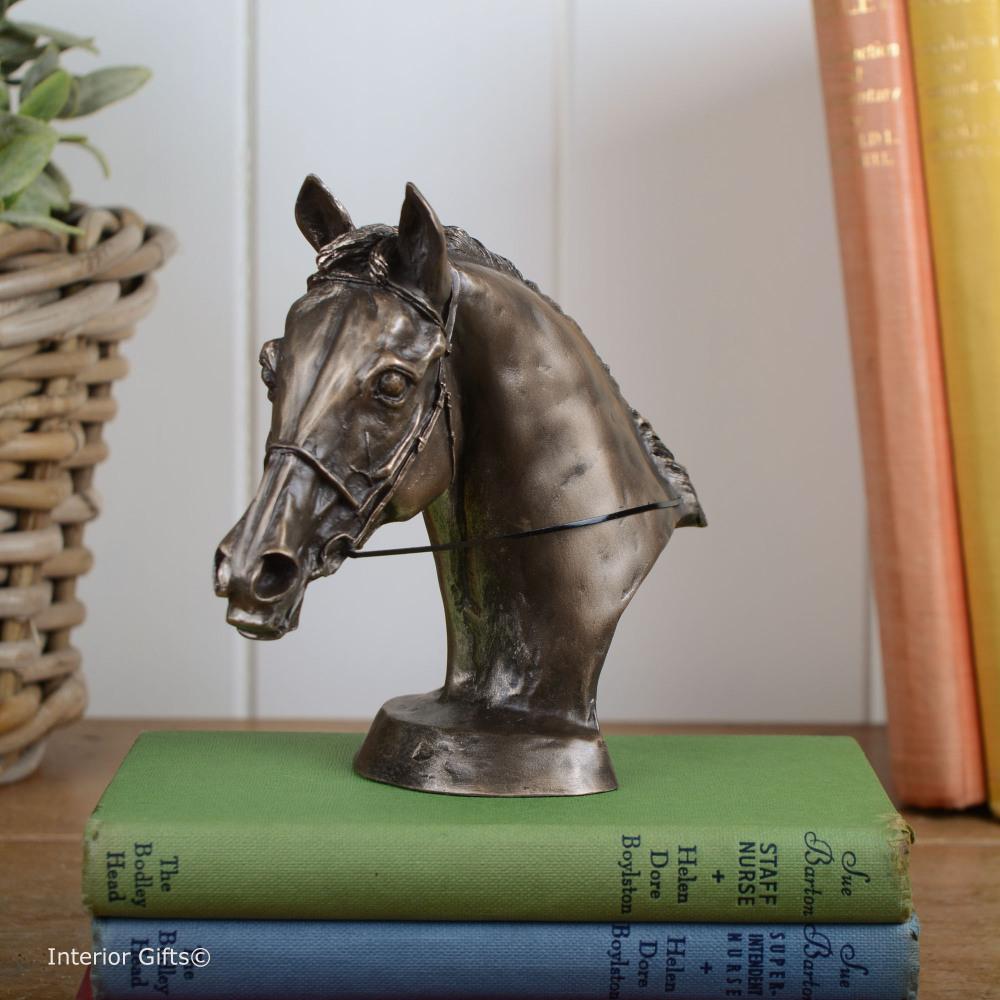 Bronze Sculpture Horse Head Bust