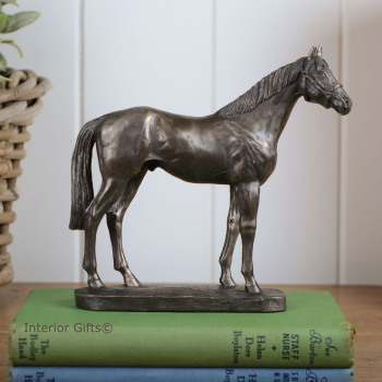 Bronze Sculpture of Beautiful Standing Horse