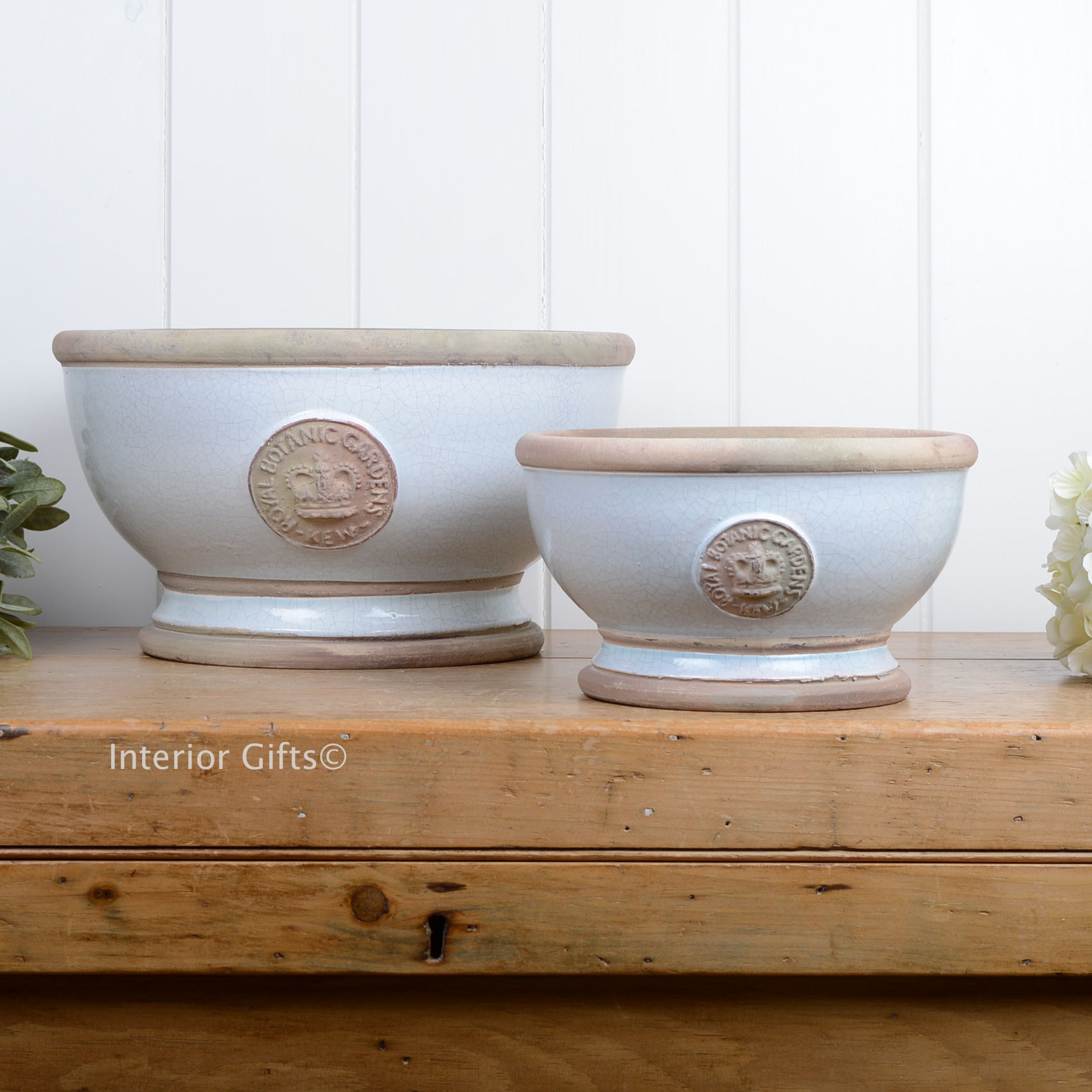 Kew Footed Bowls Duck Egg blue