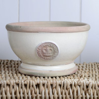 Kew Footed Bowl in Ivory Cream - Royal Botanic Gardens Plant Pot - Small