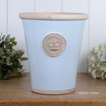 Kew Long Tom Pot in Duck Egg Blue - Royal Botanic Gardens Plant Pot - Large