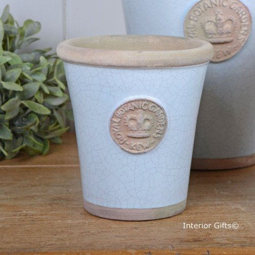 Kew Long Tom Pot in Duck Egg Blue - Royal Botanic Gardens Plant Pot - Small