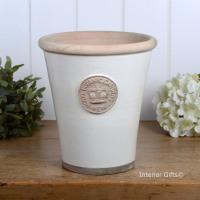 Kew Long Tom Pot in Ivory Cream - Royal Botanic Gardens Plant Pot - Large SLIGHT SECOND