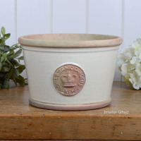 Kew Low Planter Pot Ivory Cream - Royal Botanic Gardens Plant Pot - Medium