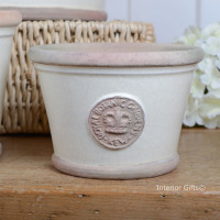 Kew Low Planter Pot Ivory Cream - Royal Botanic Gardens Plant Pot - Small