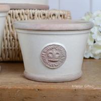 Kew Low Planter Pot Ivory Cream - Royal Botanic Gardens Plant Pot - Small