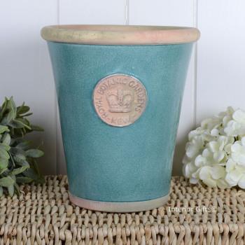 Kew Long Tom Pot in Turquoise - Royal Botanic Gardens Plant Pot - Large