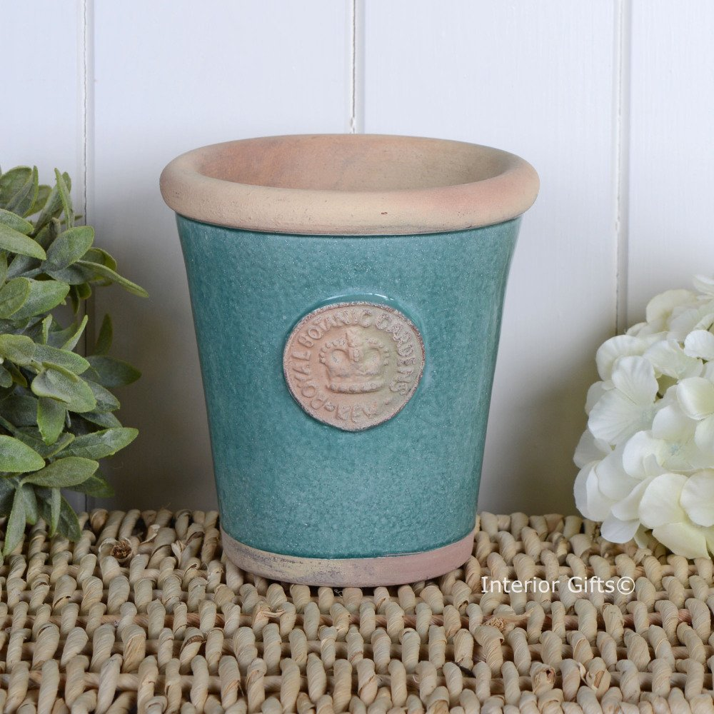 Kew Long Tom Pot in Turquoise - Royal Botanic Gardens Plant Pot - Small