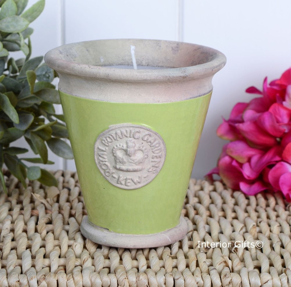 KEW Royal Botanic Gardens Candle in Lime Green - Large