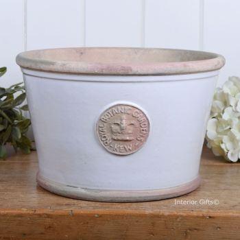 Kew Low Planter Pot Bone - Royal Botanic Gardens Plant Pot - Large
