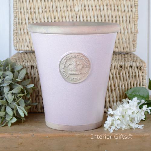 Kew Long Tom Pot in Powder Pink - Royal Botanic Gardens Plant Pot - Large