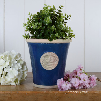 Kew Long Tom Pot in Indigo Blue - Royal Botanic Gardens Plant Pot - Medium