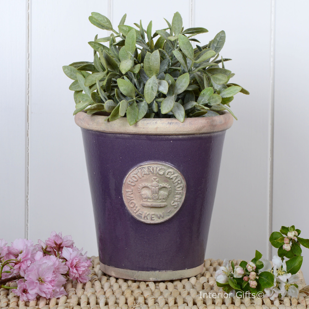 Kew Long Tom Pot in Heather - Royal Botanic Gardens Plant Pot - Medium