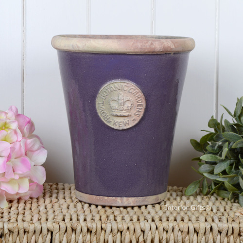 Kew Long Tom Pot in Heather - Royal Botanic Gardens Plant Pot - Large