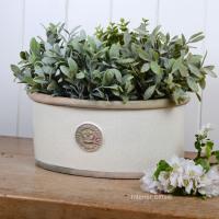 Kew Oval Planter in Ivory Cream - Royal Botanic Gardens Plant Pot - Medium