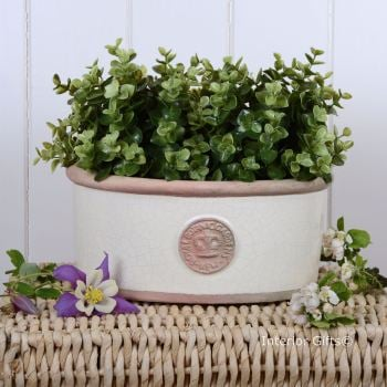 Kew Oval Planter in Ivory Cream - Royal Botanic Gardens Plant Pot - Small