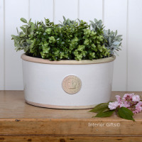 Kew Oval Planter in Bone - Royal Botanic Gardens Plant Pot - Large