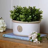 Kew Oval Planter in Bone White - Royal Botanic Gardens Plant Pot - Small
