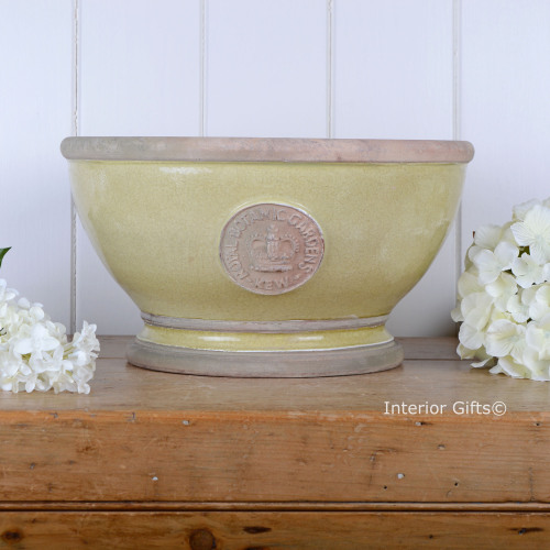 Kew Footed Bowl in Grape Green - Royal Botanic Gardens Plant Pot - Large