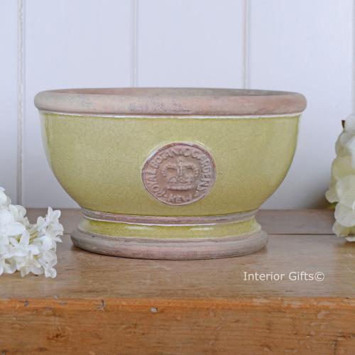 Kew Footed Bowl in Grape Green - Royal Botanic Gardens Plant Pot - Small