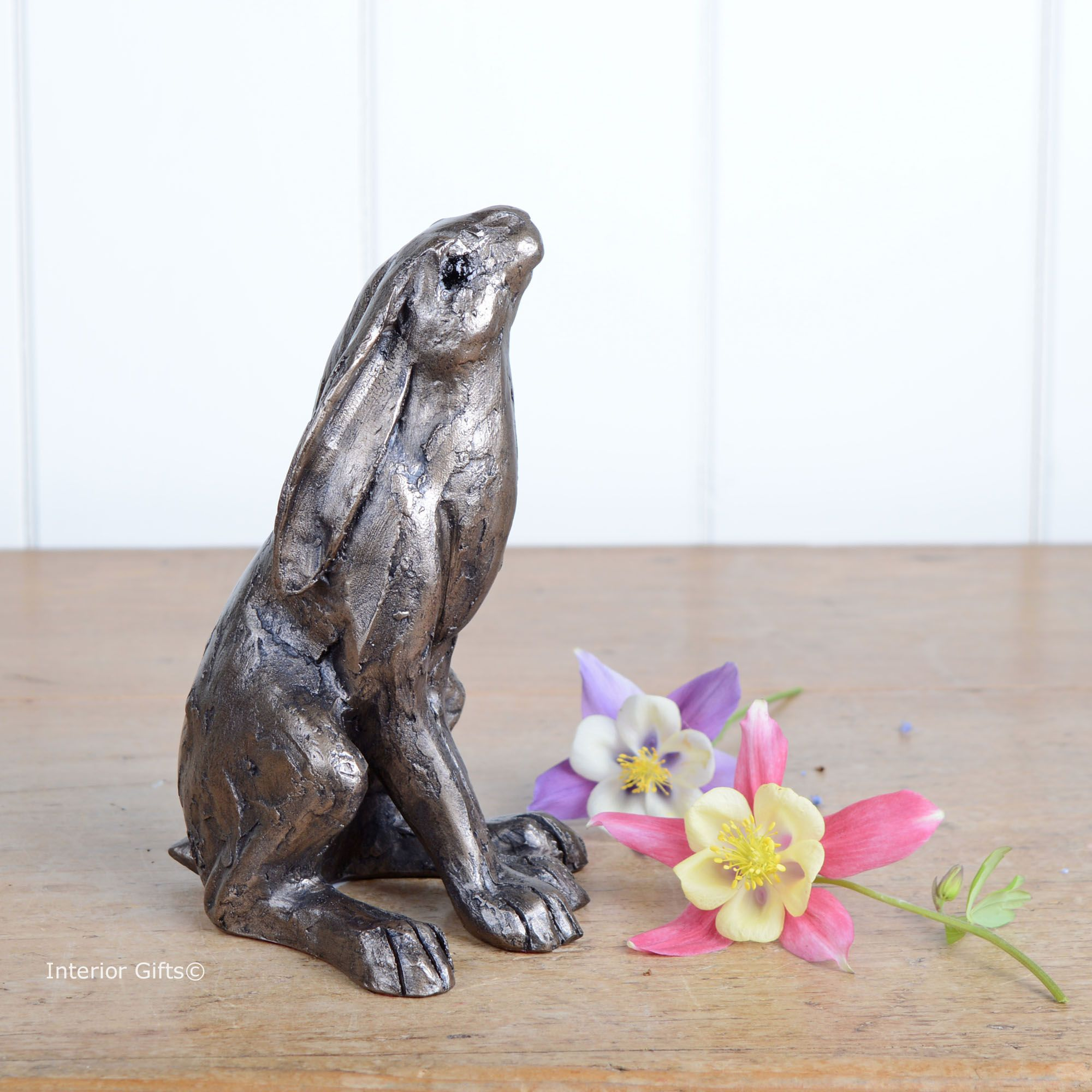 Moongazing Hare in Bronze