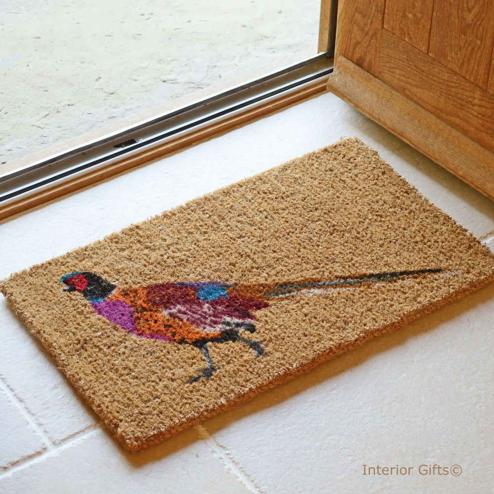 Quality Coir Pheasant Printed Doormat
