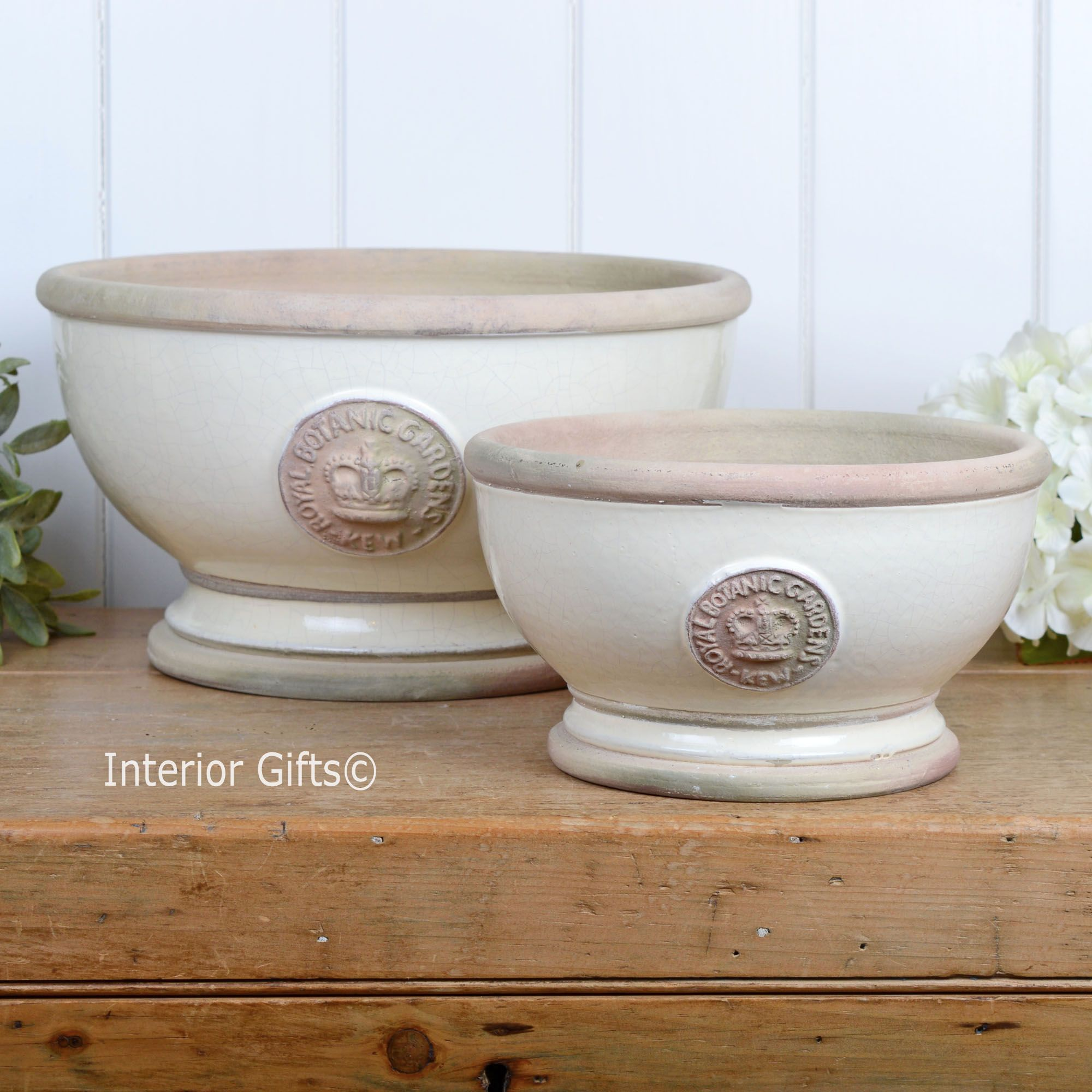 Kew Footed Bowl Ivory Cream