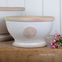 Kew Footed Bowl in Bone White - Royal Botanic Gardens Plant Pot - Small