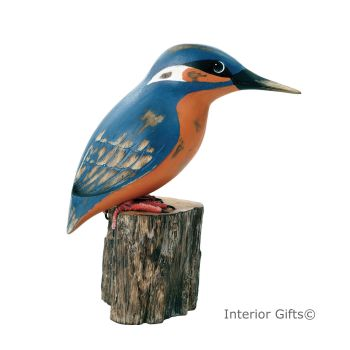 Archipelago Kingfisher Bird Wood Carving