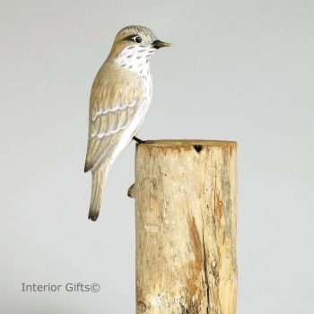 Archipelago Flycatcher Bird Wood Carving