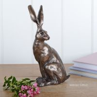Sitting Hare Small Frith Bronze Sculpture by Paul Jenkins