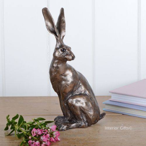 Sitting Hare Frith Bronze Sculpture by Paul Jenkins