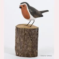 Archipelago ROBIN Garden Bird Wood Carving