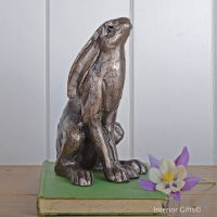 Hilda Moongazing Hare Frith Bronze Sculpture by Paul Jenkins
