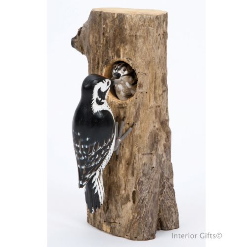 Archipelago Lesser Spotted Woodpecker Bird Wood Carving