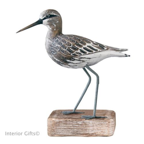 Archipelago Sandpiper Standing Straight Bird Wood Carving