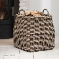 Rattan Wicker Log Basket / Toy Storage Basket