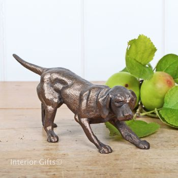 Seeking Pheasants Bronze Gun Dog by Frith Sculpture