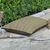 Garden Kneeler / Outdoor Cushion - Country Tweed with Waterproof Backing