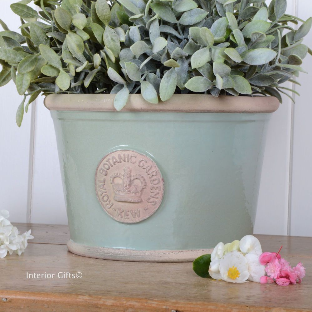 Kew Low Planter Pot Chartwell Green - Royal Botanic Gardens Plant Pot - Med