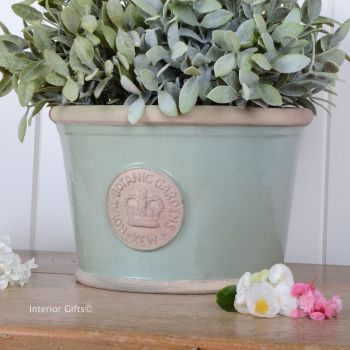 Kew Low Planter Pot Chartwell Green - Royal Botanic Gardens Plant Pot - Medium