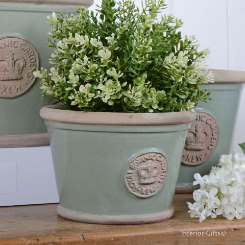 Kew Low Planter Pot Chartwell Green - Royal Botanic Gardens Plant Pot - Sma