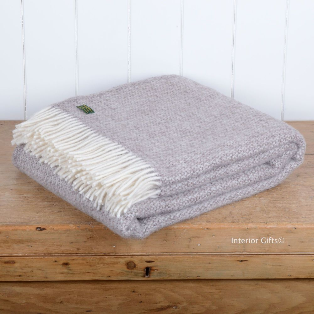 Tweedmill Natural Beige Ascot Pure New Wool Throw