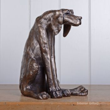Sidney the Faithful Handsome Hound Dog in Bronze by Frith