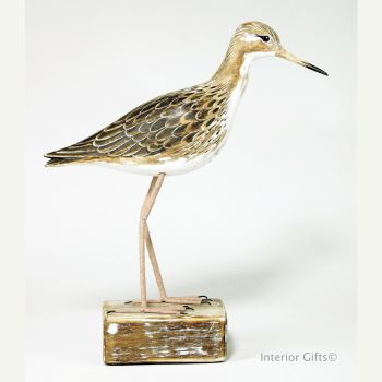 Archipelago Ruff Standing Straight, Bird Wood Carving
