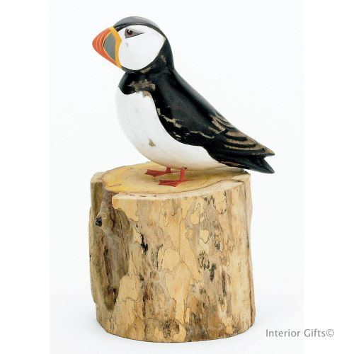 Archipelago Small Puffin Straight Bird Wood Carving