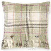 BRONTE by Moon Cushion - Fern Green Huntingtower Check Shetland Wool