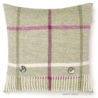 BRONTE by Moon Cushion - Fern Green Windowpane Check Shetland Wool